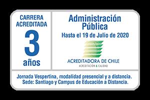Iplacex acreditado en carrera de Administración Pública