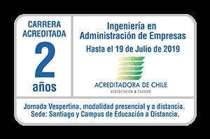 Iplacex acreditado en carrera de Ingeniería en Administración de Empresas